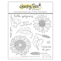 Honey Bee Stamps - Clear Photopolymer Stamps - Sweet Sunflowers