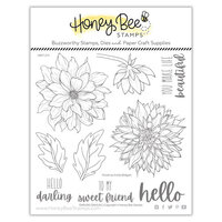 Honey Bee Stamps - Clear Photopolymer Stamps - Darling Dahlias