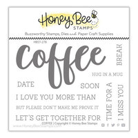 Honey Bee Stamps - Clear Photopolymer Stamps - Coffee Buzzword