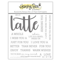 Honey Bee Stamps - Clear Photopolymer Stamps - Latte Buzzword