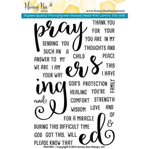 Honey Bee Stamps - Clear Photopolymer Stamps - Prayers