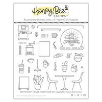 Honey Bee Stamps - Clear Photopolymer Stamps - Coffee Shop House Builder Add-On