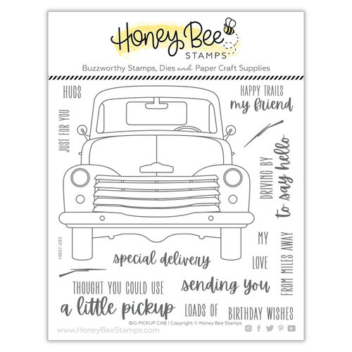 Honey Bee Stamps - Clear Photopolymer Stamps - Big Pickup Cab