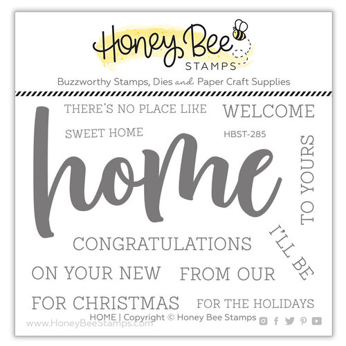 Honey Bee Stamps - Clear Photopolymer Stamps - Home Buzzword