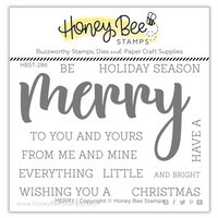 Honey Bee Stamps - Clear Photopolymer Stamps - Merry Buzzword