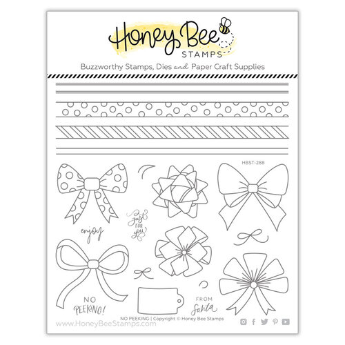 Honey Bee Stamps - Clear Photopolymer Stamps - No Peeking