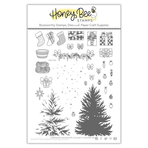 Honey Bee Stamps - Clear Photopolymer Stamps - Farmhouse Tree Builder