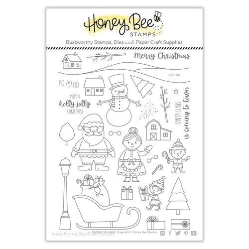 Honey Bee Stamps - Clear Photopolymer Stamps - Santa's Village