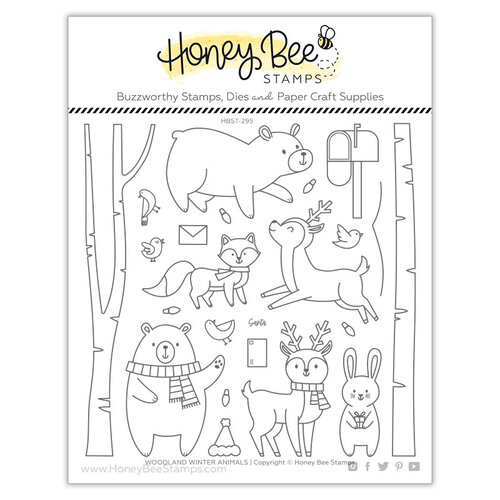 Honey Bee Stamps - Clear Photopolymer Stamps - Woodland Animals