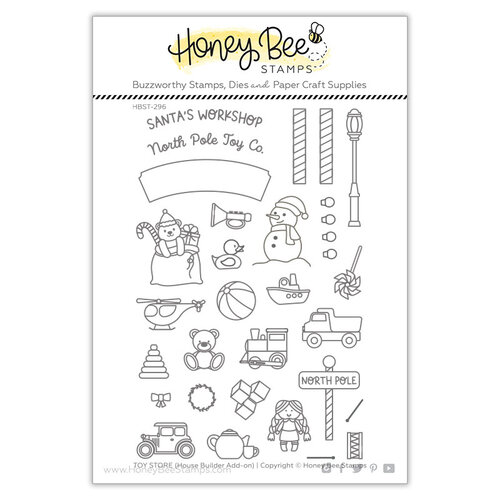 Honey Bee Stamps - Clear Photopolymer Stamps - House Builder Add-On - Toy Store