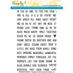 Honey Bee Stamps - Clear Acrylic Stamps - Sentiment Builder