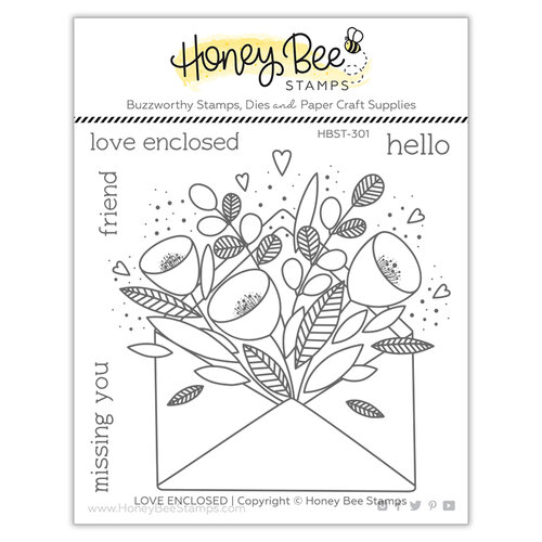 Honey Bee Stamps - Love Letters Collection - Clear Photopolymer Stamps - Pretty Postage