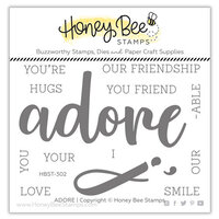 Honey Bee Stamps - Love Letters Collection - Clear Photopolymer Stamps - Adore Buzzword