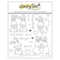 Honey Bee Stamps - Love Letters Collection - Clear Photopolymer Stamps - Honey Bunnies