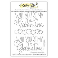 Honey Bee Stamps - Love Letters Collection - Clear Photopolymer Stamps - Will You Be My