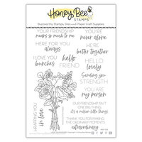 Honey Bee Stamps - Love Letters Collection - Clear Photopolymer Stamps - Love You Bunches