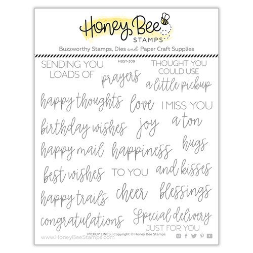 Honey Bee Stamps - Love Letters Collection - Clear Photopolymer Stamps - Pickup Lines
