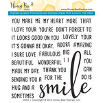 Honey Bee Stamps - Clear Acrylic Stamps - Smile