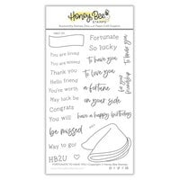 Honey Bee Stamps - Love Letters Collection - Clear Photopolymer Stamps - Fortunate To Have You