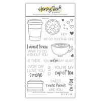 Honey Bee Stamps - Love Letters Collection - Clear Photopolymer Stamps - Love You S'more