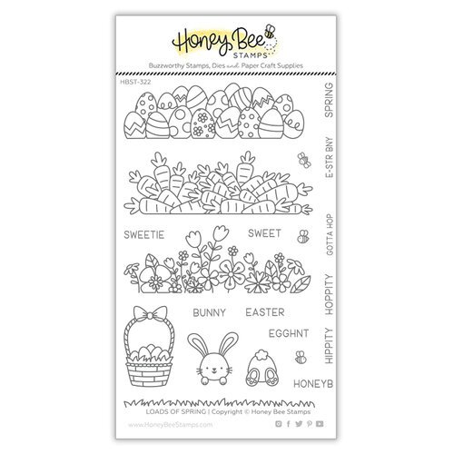 Honey Bee Stamps - Clear Photopolymer Stamps - Loads of Spring