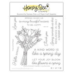 Honey Bee Stamps - Clear Photopolymer Stamps - Spring Joy Bouquet