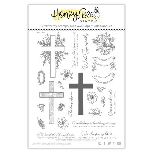 Honey Bee Stamps - Clear Photopolymer Stamps - Old Rugged Cross