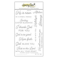 Honey Bee Stamps - Clear Photopolymer Stamps - He Is Risen