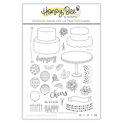 Honey Bee Stamps - Let's Celebrate Collection - Clear Photopolymer Stamps - Fancy Frosting