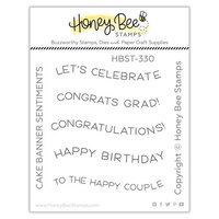 Honey Bee Stamps - Let's Celebrate Collection - Clear Photopolymer Stamps - Cake Banner Sentiments