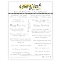 Honey Bee Stamps - Let's Celebrate Collection - Clear Photopolymer Stamps - Inside Birthday Sentiments