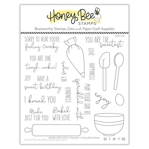 Honey Bee Stamps - Let's Celebrate Collection - Clear Photopolymer Stamps - Baked With Love