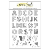 Honey Bee Stamps - Let's Celebrate Collection - Clear Photopolymer Stamps - Sugar Cookie Alphabet