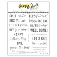 Honey Bee Stamps - Let's Celebrate Collection - Clear Photopolymer Stamps - Kiss the Cook