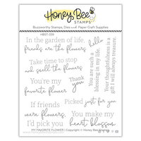 Honey Bee Stamps - Summer Stems Collection - Clear Photopolymer Stamps - My Favorite Flower
