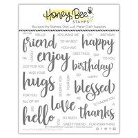 Honey Bee Stamps - Let's Celebrate Collection - Clear Photopolymer Stamps - Bitty Buzzwords