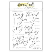 Honey Bee Stamps - Summer Stems Collection - Clear Photopolymer Stamps - Miss You Big Time