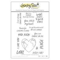 Honey Bee Stamps - Summer Stems Collection - Clear Photopolymer Stamps - High Five