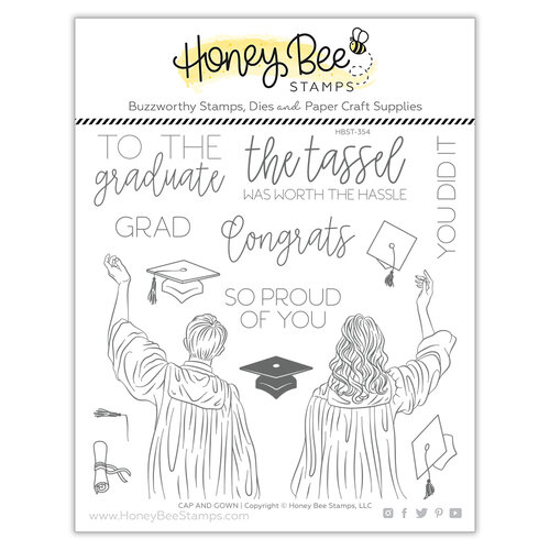 Honey Bee Stamps - Let's Celebrate Collection - Clear Photopolymer Stamps - Cap and Gown