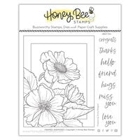 Honey Bee Stamps - Summer Stems Collection - Clear Photopolymer Stamps - Framed Anemones