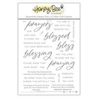 Honey Bee Stamps - Autumn Splendor Collection - Clear Photopolymer Stamps - Praying Big Time