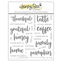 Honey Bee Stamps - Autumn Splendor Collection - Clear Photopolymer Stamps - Bitty Buzzwords - Fall