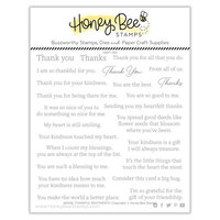 Honey Bee Stamps - Autumn Splendor Collection - Clear Photopolymer Stamps - Inside Thankful Sentiments