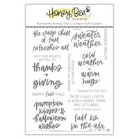 Honey Bee Stamps - Autumn Splendor Collection - Clear Photopolymer Stamps - Sweater Weather