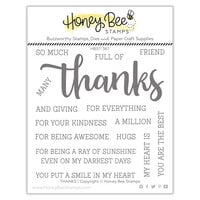 Honey Bee Stamps - Autumn Splendor Collection - Clear Photopolymer Stamps - Thanks Buzzword
