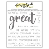 Honey Bee Stamps - Autumn Splendor Collection - Clear Photopolymer Stamps - Great Buzzword