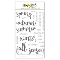 Honey Bee Stamps - Autumn Splendor Collection - Clear Photopolymer Stamps - Bitty Buzzwords - Seasons