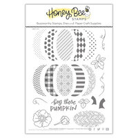 Honey Bee Stamps - Autumn Splendor Collection - Clear Photopolymer Stamps - Patchwork Pumpkin