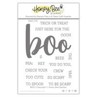 Honey Bee Stamps - Autumn Splendor Collection - Clear Photopolymer Stamps - Boo Buzzword