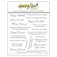 Honey Bee Stamps - Vintage Holiday Collection - Clear Photopolymer Stamps - Inside Holiday Sentiments
